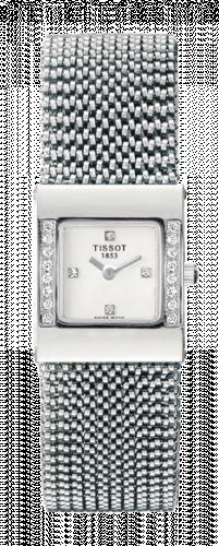 Tissot T74.5.308.36 : Bellflower Square White Gold / Diamond / Silver / Bracelet