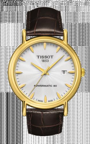 T907.407.16.031.00 : Tissot Carson Powermatic 80 40 Yellow Gold / Silver / Strap