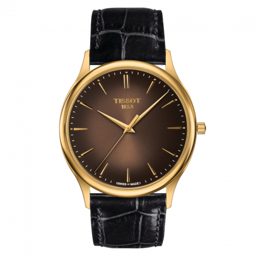 T926.410.16.291.00 : Tissot Excellence 18K Yellow Gold / Brown