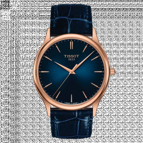 T926.410.76.041.00 : Tissot Excellence 18K Rose Gold / Blue