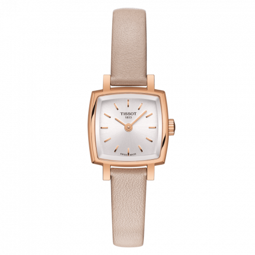 Tissot T058.109.36.031.00 : Lovely Square PVD Rose Gold / Silver