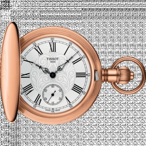 Tissot T864.405.99.033.01 : Savonnette Mechanical Brass / Rose Gold