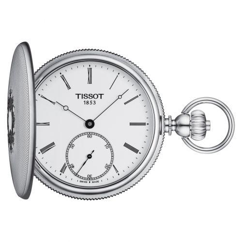 Tissot T867.405.19.013.00 : Savonnette Mechanical Stainless Steel / White - Roman