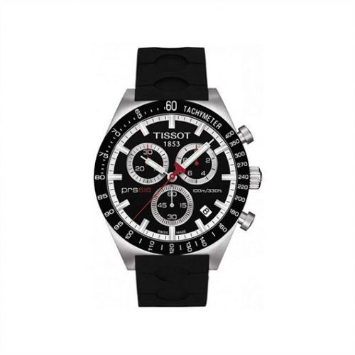 Tissot T044.417.27.051.00 : PRS 516 Quartz Chronograph Black Rubber