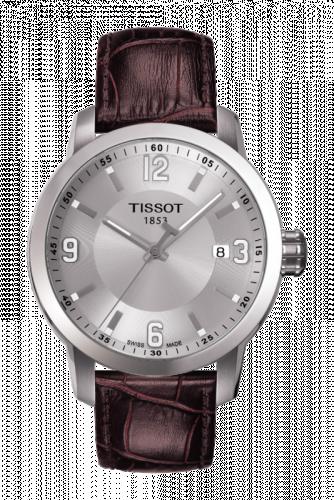 T055.410.16.037.00 : Tissot PRC 200 Quartz Silver Leather
