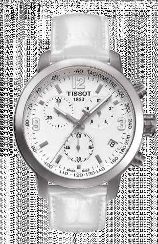 T055.417.16.017.00 : Tissot PRC 200 Quartz Chronograph White Leather