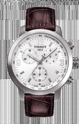 T055.417.16.017.01 : Tissot PRC 200 Quartz Chronograph Silver Leather