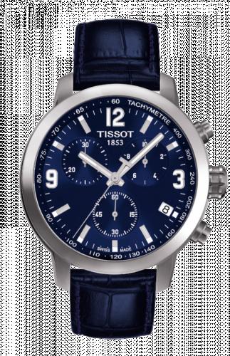 T055.417.16.047.00 : Tissot PRC 200 Quartz Chronograph Blue Leather