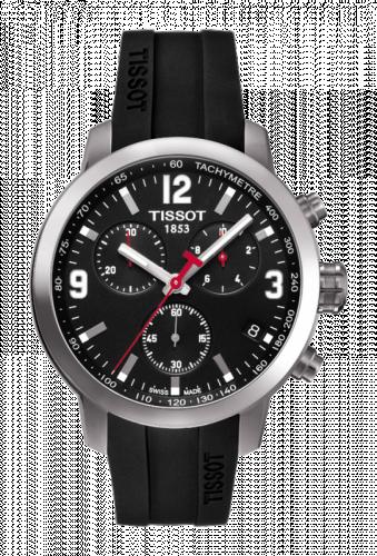 T055.417.17.057.00 : Tissot PRC 200 Quartz Chronograph Black Rubber