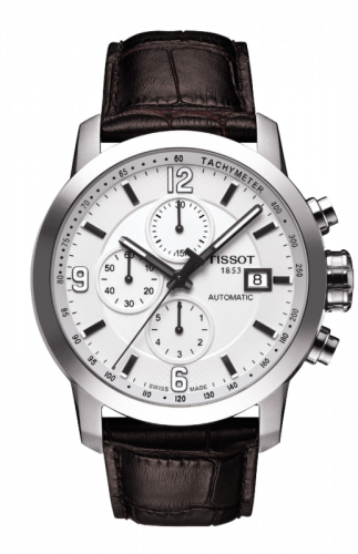 Tissot T055.427.16.017.00 : PRC 200 Automatic Chronograph Silver Leather