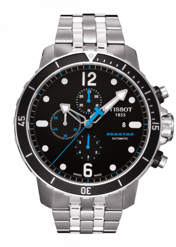 Tissot T066.427.11.057.00 : Seastar 1000 Automatic Chronograph Black