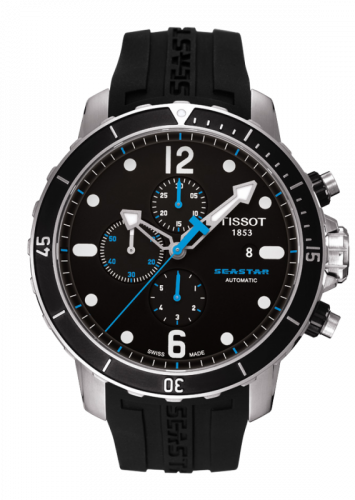 T066.427.17.057.00 : Tissot Seastar 1000 Automatic Chronograph Black Rubber