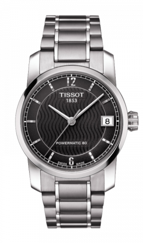 Tissot T087.207.44.057.00 : Powermatic 80 Lady Titanium / Black