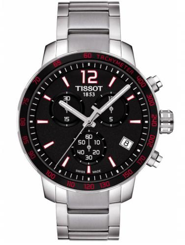 Tissot T095.417.11.057.00 : Quickster Chronograph Stainless Steel / Black / Bracelet