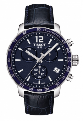 Tissot T095.417.16.047.00 : Quickster Chronograph Stainless Steel / Blue