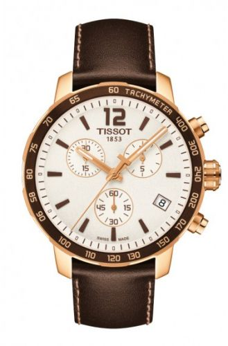 Tissot T095.417.36.037.02 : Quickster Chronograph Rose PVD / Silver