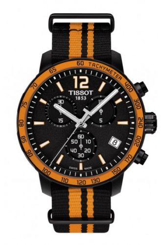 T095.417.37.057.00 : Tissot Quickster Chronograph PVD / Orange / NATO