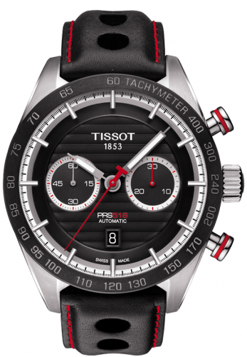 T100.427.16.051.00 : Tissot PRS 516 Automatic Chronograph 45 Stainless Steel / Black / Strap