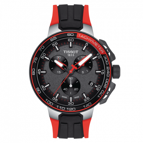 T111.417.27.441.00 : Tissot T-Race Cycling Chronograph Stainless Steel / Red