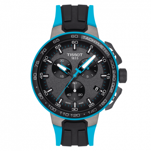 T111.417.37.441.05 : Tissot T-Race Cycling Chronograph Stainelss Steel / Blue