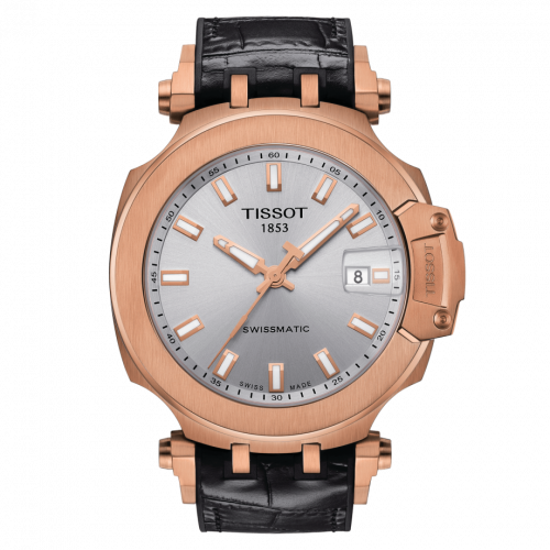 Tissot T115.407.37.031.00 : T-Race Swissmatic 45 Rose Gold PVD / Silver
