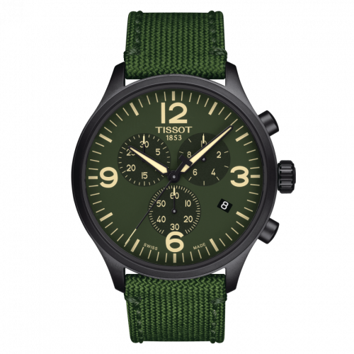 Tissot T116.617.37.097.00 : Chrono XL Black PVD / Green