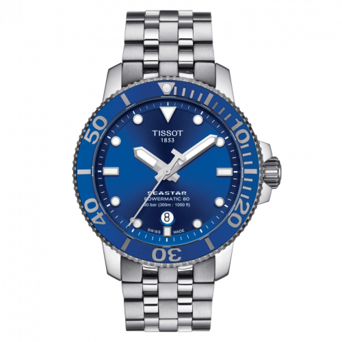 T120.407.11.041.00 : Tissot Seastar 1000 Powermatic 80 43 Stainless Steel / Blue / Bracelet