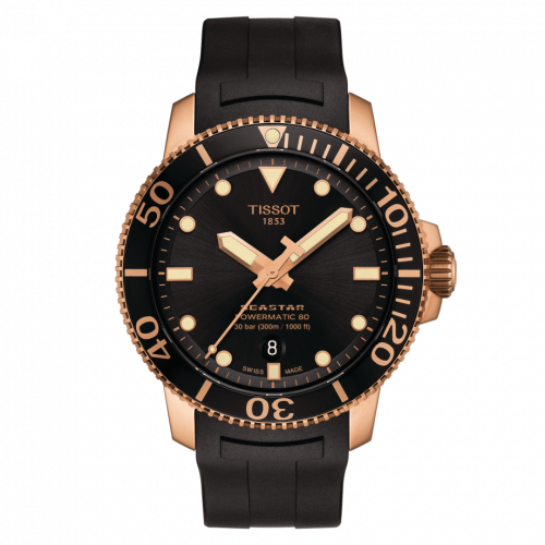 T120.407.37.051.01 : Tissot Seastar 1000 Powermatic 80 43 Rose Gold PVD / Black / Rubber