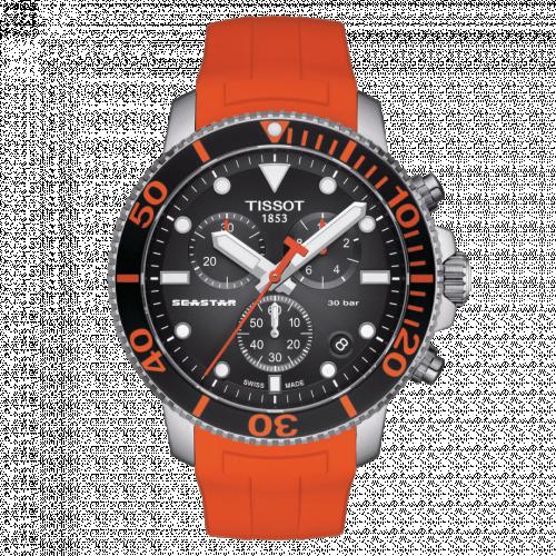 T120.417.17.051.01 : Tissot Seastar 1000 Chronograph Quartz 45.5 Stainless Steel / Black / Rubber