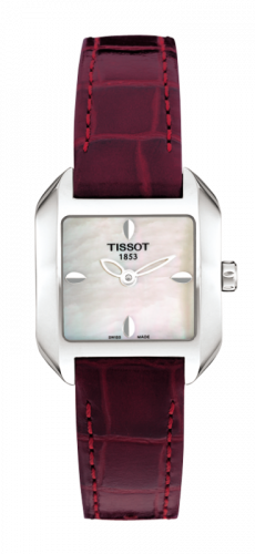 T02.1.256.71 : Tissot T-Wave Square Quartz 23.6 Stainless Steel / MOP / Strap