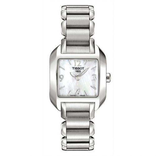 Tissot T02.1.285.82 : T-Wave Square Quartz 23.6 Stainless Steel / MOP / Bracelet