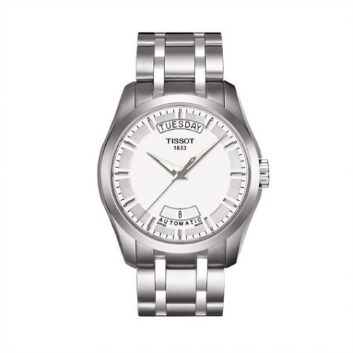 Tissot T035.407.11.031.00 : Couturier Automatic Day-Date Silver / Bracelet