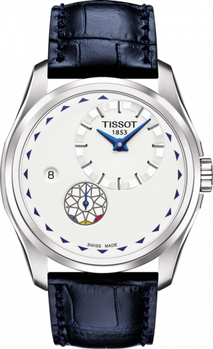 T035.428.16.031.01 : Tissot Couturier Automatic Small Second Stainless Steel / Silver / Strap / Romania Centenary