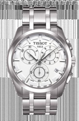 Tissot T035.439.11.031.00 : Couturier Quartz Chronograph GMT Silver