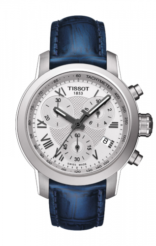T055.217.16.033.00 : Tissot PRC 200 Quartz Chronograph Lady Roman Blue Leather