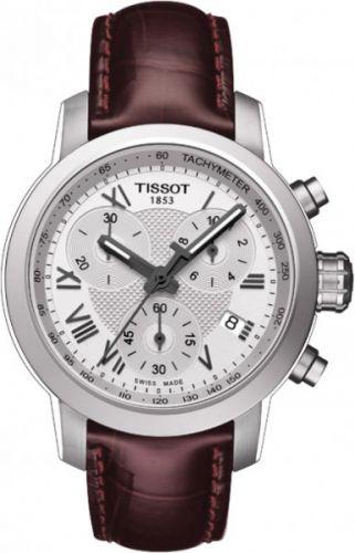 T055.217.16.033.01 : Tissot PRC 200 Quartz Chronograph Lady Roman Leather