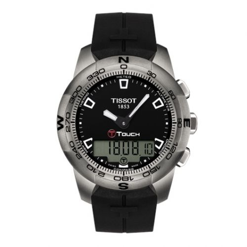 Tissot T047.420.47.051.00 : T-Touch II Black Ti Rubber