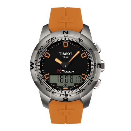 Tissot T047.420.47.051.01 : T-Touch II Orange Rubber Ti