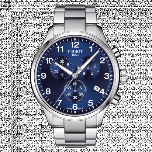 Tissot T116.617.11.047.01 : Chrono XL Classic Stainless Steel / Blue / Bracelet