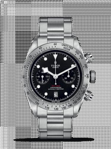 Tudor 79350-0004 : Heritage Black Bay Black Chronograph / Bracelet