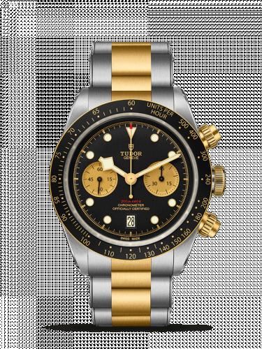 Tudor 79363N-0001 : Heritage Black Bay Chronograph S&G / Black / Bracelet