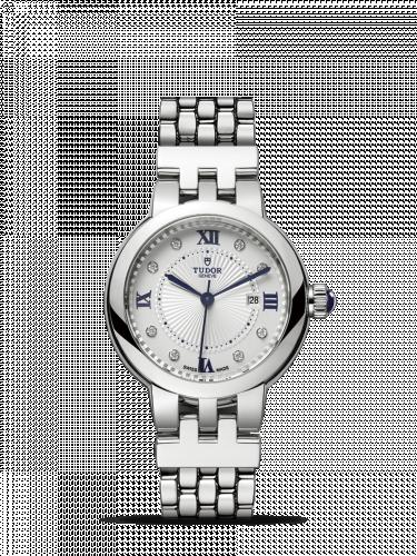 Tudor 35500-0004 : Clair de Rose 30 Stainless Steel / Silver-Diamond / Bracelet