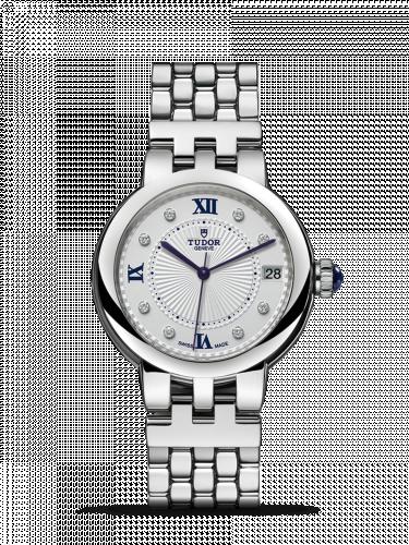 Tudor 35800-0004 : Clair de Rose 34 Stainless Steel / Silver-Diamond / Bracelet