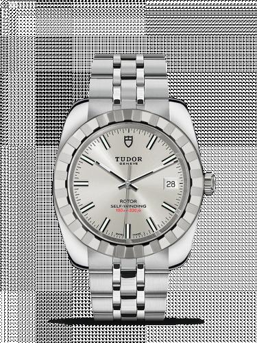 Tudor M21010-0004 : Classic 38 Stainless Steel / Fluted / Silver / Bracelet