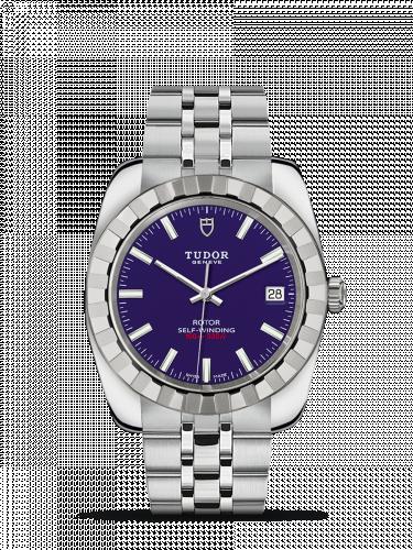 Tudor M21010-0005 : Classic 38 Stainless Steel / Fluted / Blue / Bracelet