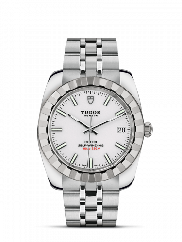Tudor M21010-0007 : Classic 38 Stainless Steel / Fluted / White / Bracelet