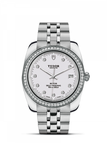 Tudor M21020-0001 : Classic 38 Stainless Steel / Diamond / White-Diamond / Bracelet