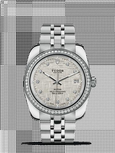 Tudor M21020-0003 : Classic 38 Stainless Steel / Diamond / Silver-Diamond / Bracelet