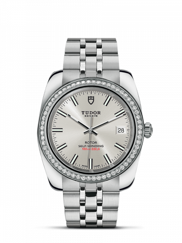 Tudor M21020-0004 : Classic 38 Stainless Steel / Diamond / Silver / Bracelet