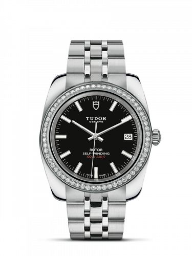 M21020-0007 : Tudor Classic 38 Stainless Steel / Diamond / Black / Bracelet